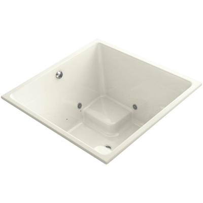 Underscore 4 ft. Air Bath Tub in Biscuit Product Photo