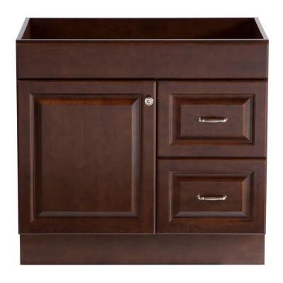 Home decorators collection dowsby 36 in vanity cabinet only in cognac yksd3621 cg the home depot Home decorators collection 36 vanity