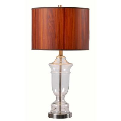 Bray 27 in. Clear Table Lamp