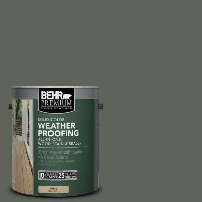 BEHR Premium 1 gal. #SC-131 Pewter Solid Color Weatherproofing All-In-One Wood Stain and Sealer