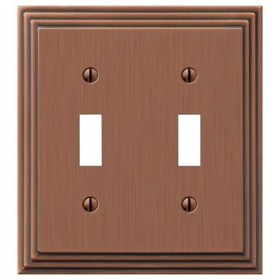Steps 2 Toggle Wall Plate - Antique Copper Product Photo