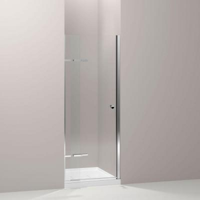 Underline 31.25 in. x 69.5 in. Pivot Shower Door in Bright Polished Silver Product Photo