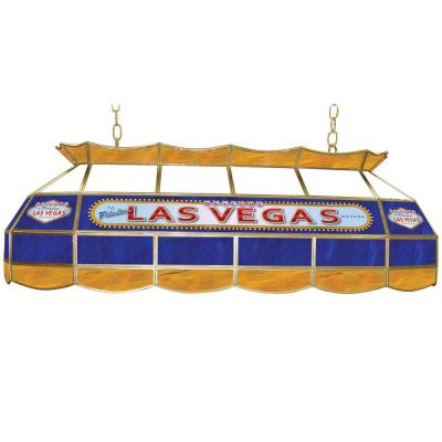 Trademark Global Las Vegas 3-Light Stained Glass Hanging Tiffany Lamp