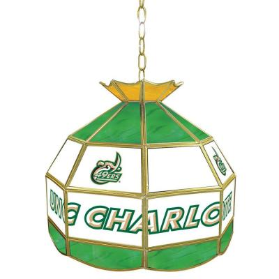 Trademark Global North Carolina Charlotte 16 in. Stained Glass Billiard Hanging Tiffany Light CLC1600-UNCC