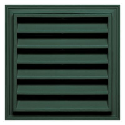12 in. x 12 in. Square Gable Vent #028 Forest Green Product Photo