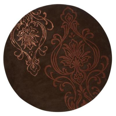 Home Decorators Collection Romantica Chocolate 7 ft. 9 in. Round Area Rug