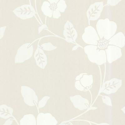 56 sq. ft. Zync Off-White Modern Floral Wallpaper