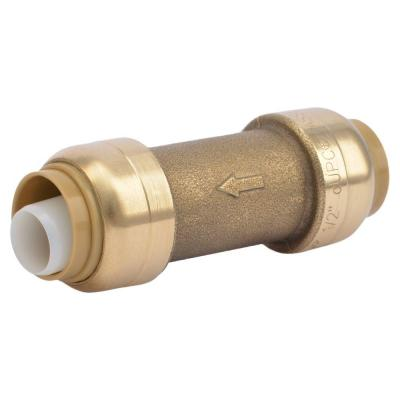 1/2 in. Brass Push-to-Connect Check Valve