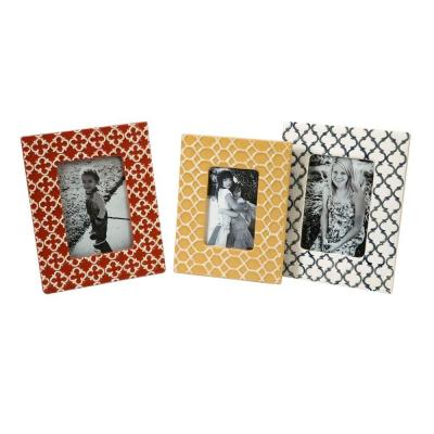 Lenor 1-Opening 5 in. x 7 in. Multicolored Picture Frame (Set