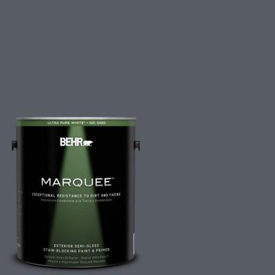 BEHR MARQUEE 1-gal. #760F-6 Distant Thunder Semi-Gloss Enamel Exterior Paint