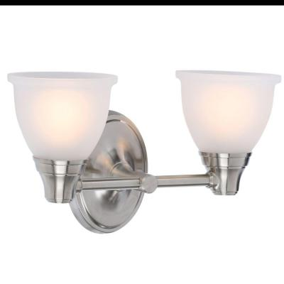 Forte Transitional 2-Light Vibrant Brushed Nickel Wall Sconce