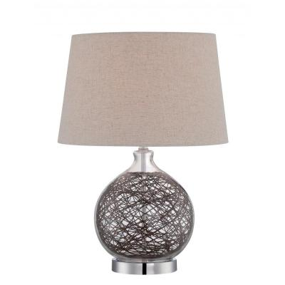 Filament Design 20 in. Polished Chrome Table Lamp