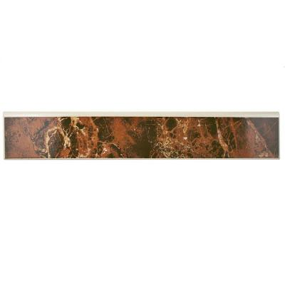 Eclipse Marron 17-3/4 in. x 3-1/4 in. Ceramic Floor and Wall