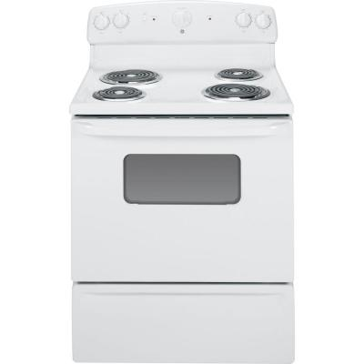 GE 5.0 cu. ft. Electric Range in White
