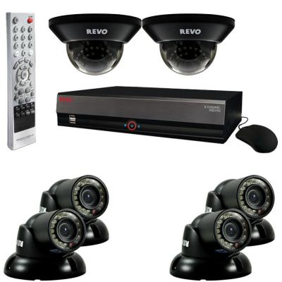 Revo 8-Channel 1TB DVR Surveillance System with (6) 700TVL 100 ft. Night Vision Cameras