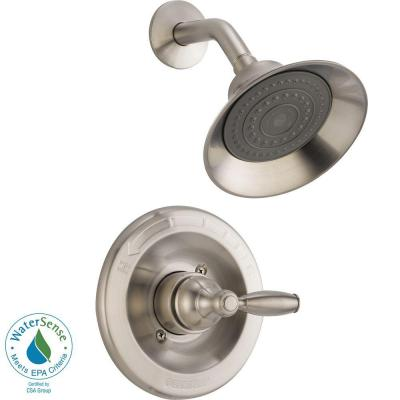 1-Handle Shower Faucet Trim Kit in Brushed Nickel (Valve Not Included) Product Photo