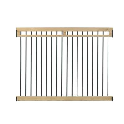 4.5 ft. x 6 ft. Pressure-Treated with Aluminum Picket Pool Fence Kit Product Photo