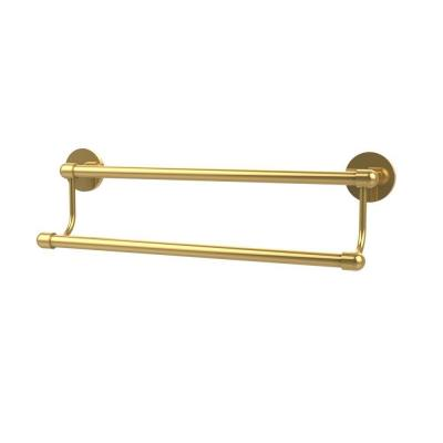 Tango Collection 30 in. Double Towel Bar in Polished Brass