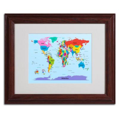 11 in. x 14 in. Childrens World Map Canvas Art