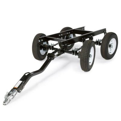 Four-Wheeled Steerable Yard Trailer with Duo-Hitch
