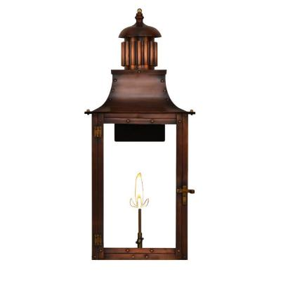 Filament Design Madison 1-Burner 23 in. Copper Outdoor Natural Gas Wall Lantern