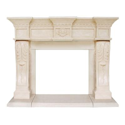 President Series Oxford 52 in. x 62 in. Cast Stone Mantel