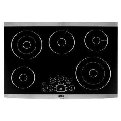 LG STUDIO 30 in. Radiant Electric Cooktop in Stainless Steel with Dual Elements