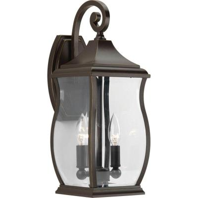 Progress Lighting Township Collection 2-Light Oil Rubbed Bronze Wall Lantern