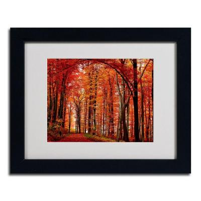null 11 in. x 14 in. The Red Way Black Framed Matted Art
