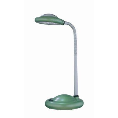 Illumine Designer Collection 16 in. Silver Desk Lamp with-Light Green Acrylic Shade