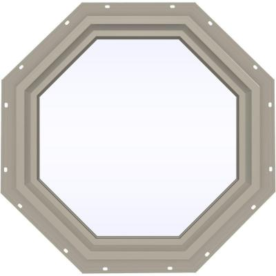 23.5 in. x 23.5 in. V-4500 Series Fixed Octagon Vinyl Window - Tan Product Photo