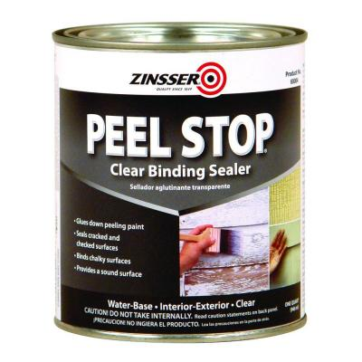 Zinsser 1 qt peel stop water base clear interior exterior for Exterior wood water based primer