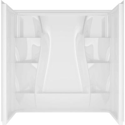 Classic 400 32 in. x 60 in. x 60 in. 3-Piece Direct-to-Stud Tub Surround in High Gloss White Product Photo