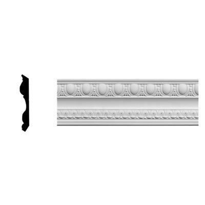 3-1/2 in. x 4-7/8 in. x 94-5/8 in. Polyurethane Bedford Egg and Dart Crown Moulding Product Photo