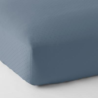 Legends Luxury Dot 500-Thread Count Cotton Sateen Fitted Sheet