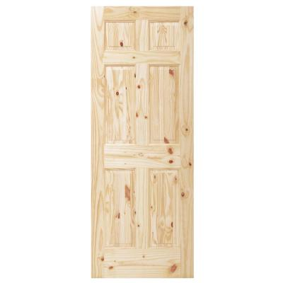 ... Sons 32 in. x 80 in. 6-Panel Unfinished Knotty Pine Interior Door Slab