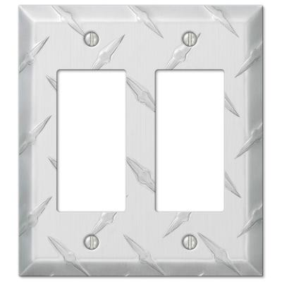 Garage Diamond Cut 2 Decora Wall Plate - Chrome