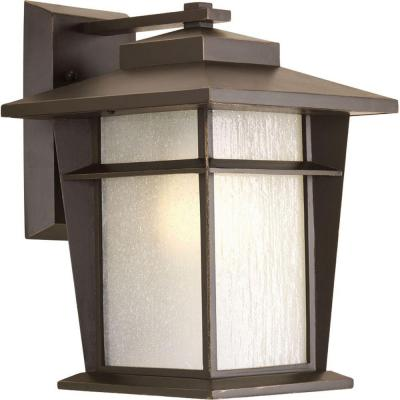 Loyal Collection 1-Light Antique Bronze Fluorescent Outdoor Wall Lantern