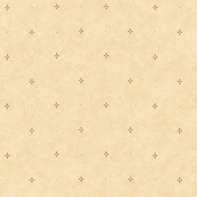 The Wallpaper Company 56 sq. ft. Red and Yellow Country Ditsy Wallpaper
