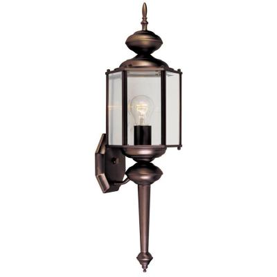 Designers Fountain Exeter Collection Wall Mounted Outdoor Distressed Bronze Lantern