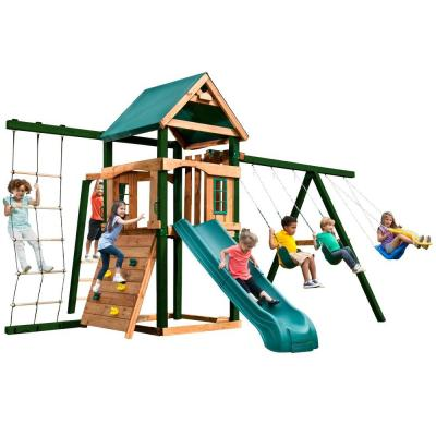 Swing-N-Slide Playsets Bighorn Ready-To-Assemble Play Set with Tuff Wood and Summit Slide