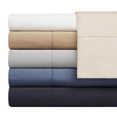 Organic Washed Solid 300-Thread Count Cotton Sheet Set