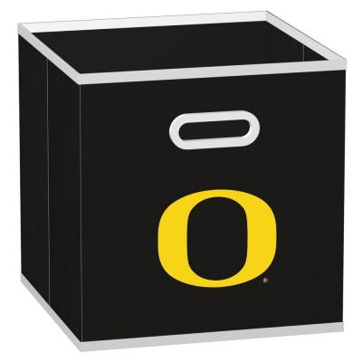 MyOwnersBox College STOREITS University of Oregon 10-1/2 in. x 10-1/2 in. x 11 in. Black Fabric Storage Drawer