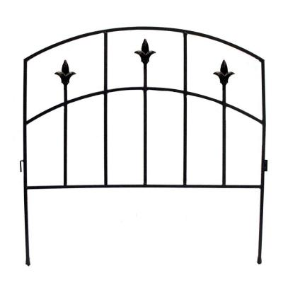 32 in. H Black Steel Alexander Border Garden Fence Product Photo