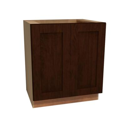 24x34.5x24 in. Franklin Assembled Base Cabinet with 2 Full Height Doors