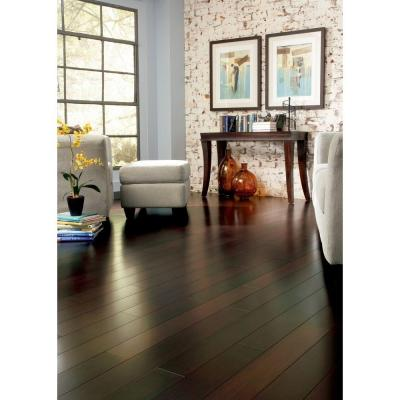 home legend strand woven walnut 9/16 in. thick x 4-3/4 in. wide x