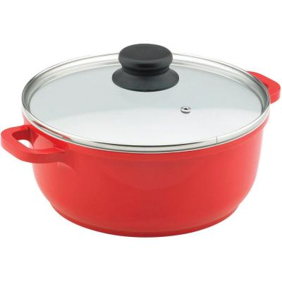 Vinaroz 6.8 qt. Casserole with Ceramic Non-Stick Coating in Red
