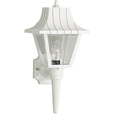 Progress Lighting Mansard Collection 1-Light White Wall Lantern