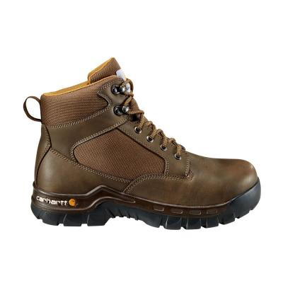 Men's Rugged Flex 6 inch Lace up Work Boot - Steel Toe - Brown