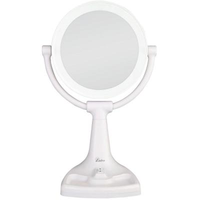 17.5 in. L x 11 in. W Max Bright Surround Light Vanity Mirror in White Product Photo